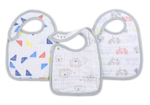aden + anais aden + anais Leader Of The Pack Snap Bibs (3 Pack)