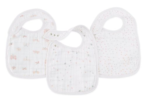 aden + anais aden + anais Lovely Reverie Snap Bibs (3 Pack)