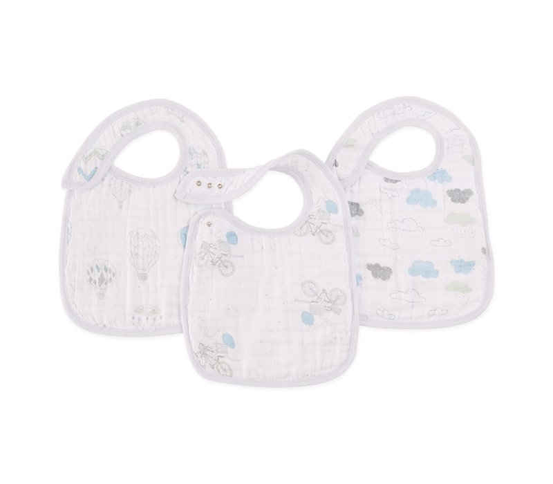 aden + anais Lovely Night Sky Reverie Snap Bibs (3 Pack)