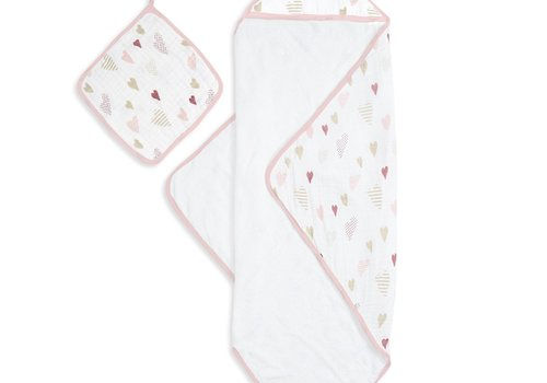 aden + anais aden + anais Heart Breaker Muslin Backed Hooded Towel Set