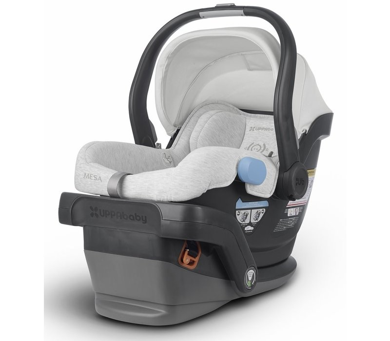 UppaBaby MESA Infant Car Seat With Base In Bryce (White And Grey Marl)