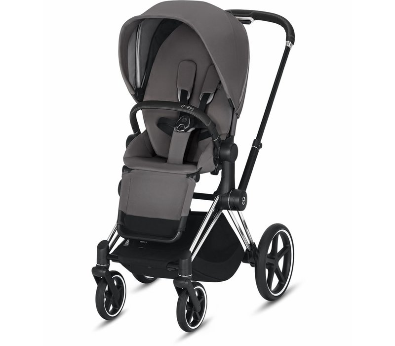 2019 Cybex Priam Complete Stroller - Chrome/Black/Manhattan Grey
