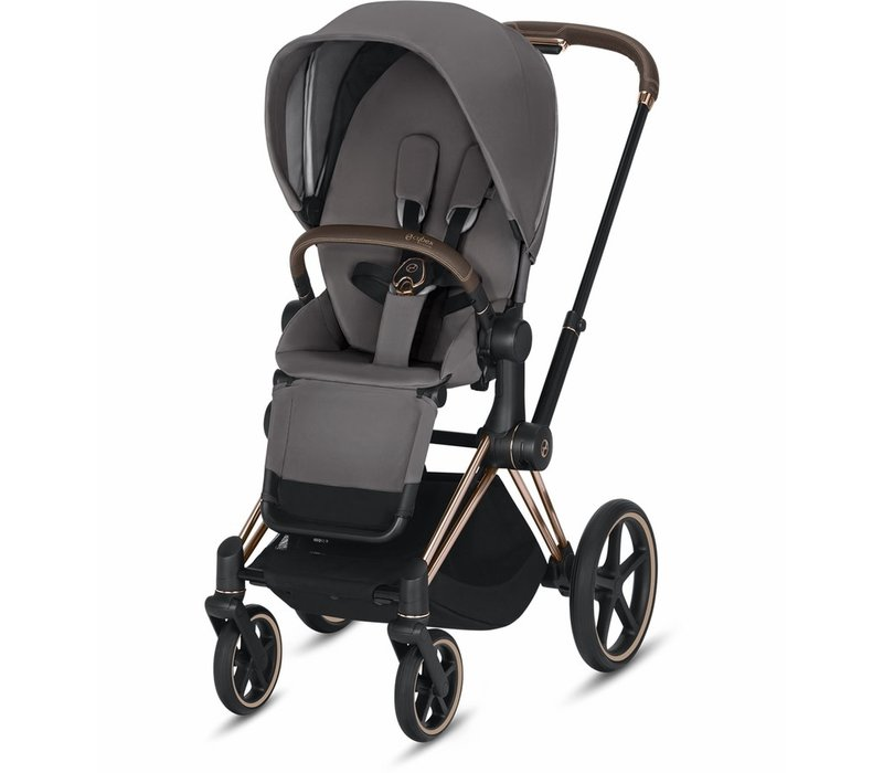 2019 Cybex Priam Complete Stroller - Rose Gold/Manhattan Grey