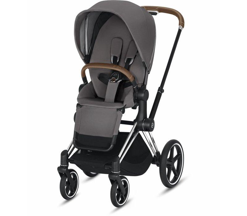 2019 Cybex Priam 3 Stroller - Chrome/Brown/Manhattan Grey