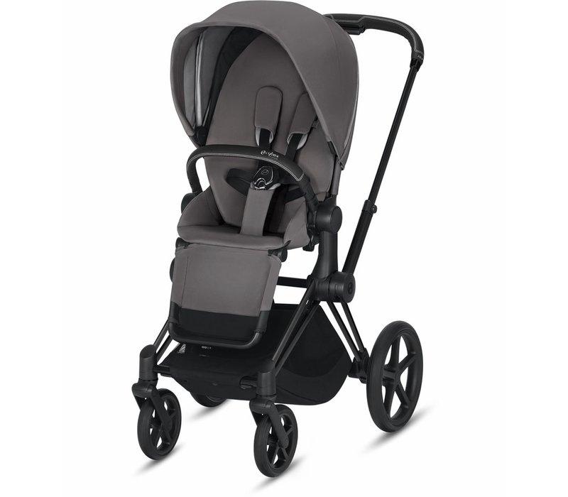 2019 Cybex Priam 3 Stroller - Matte Black/Manhattan Grey