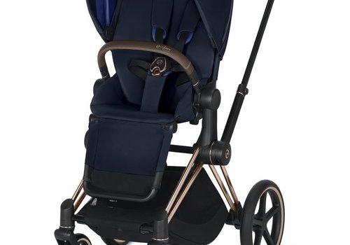 Cybex 2019 Cybex Priam Complete Stroller - Rose Gold/Indigo Blue