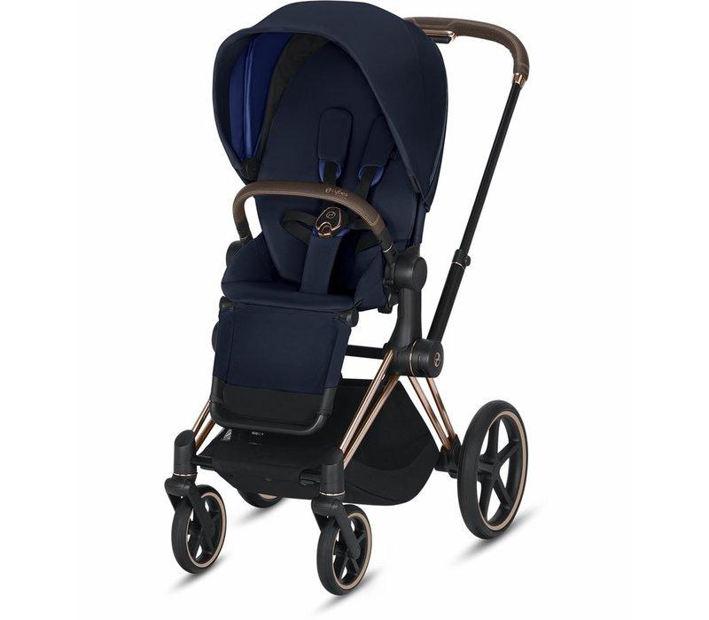 2019 Cybex Priam Complete Stroller - Rose Gold/Indigo Blue