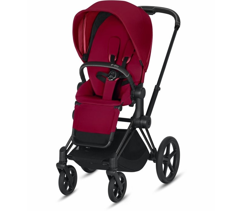 2019 Cybex Priam 3 Stroller - Matte Black/True Red