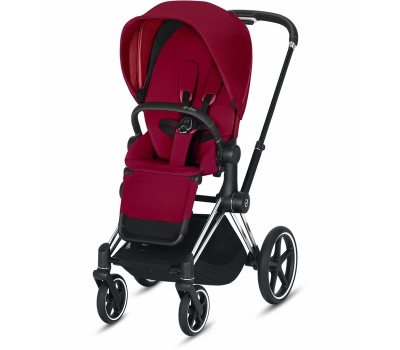 2019 Cybex Priam Complete Stroller - Chrome/Black/True Red