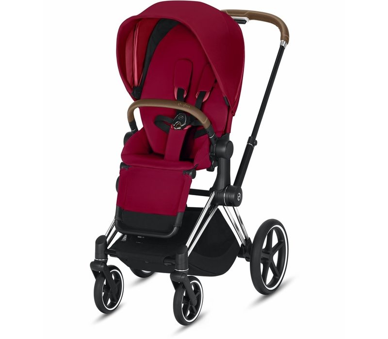 2019 Cybex Priam 3 Stroller - Chrome/Brown/True Red