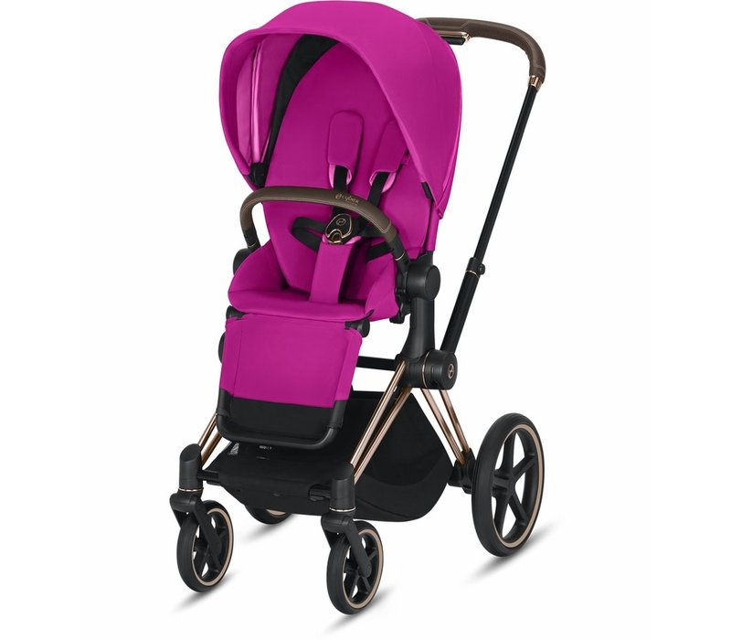 2019 Cybex Priam Complete Stroller - Rose Gold/Fancy Pink
