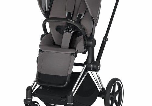 Cybex 2020 Cybex ePriam Chrome Black frame + Manhattan Grey Seat