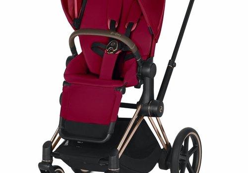 Cybex 2020 Cybex ePriam Rose Gold frame + True Red Seat