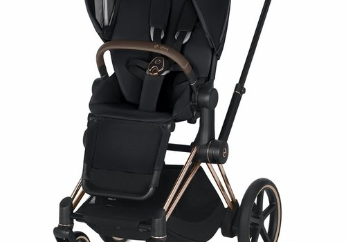 Cybex 2019 Cybex ePriam Rose Gold frame + Premium Black Seat