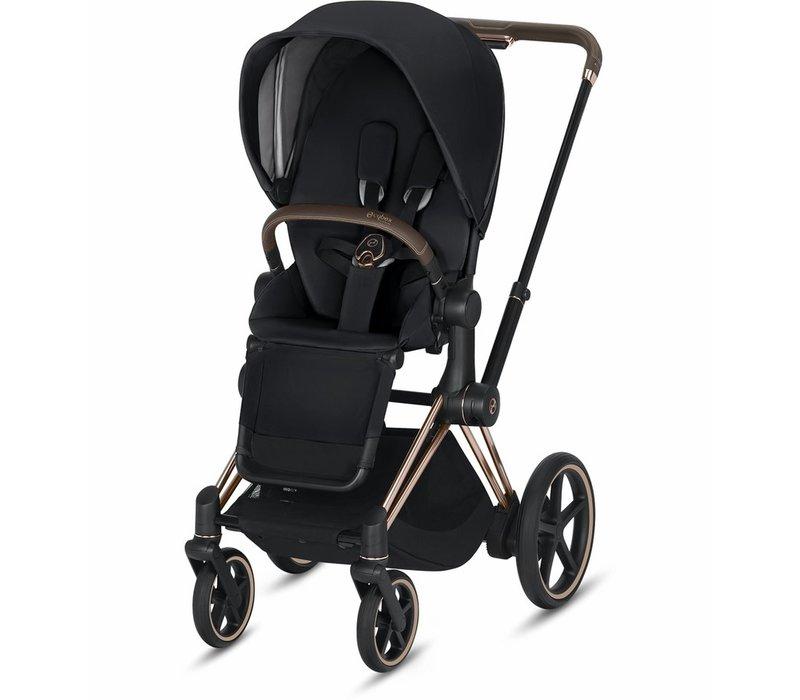 2019 Cybex ePriam Rose Gold frame + Premium Black Seat