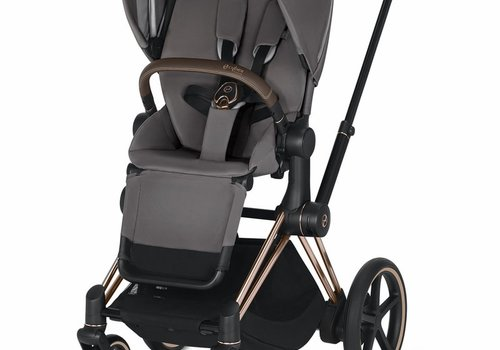 Cybex 2019 Cybex ePriam Rose Gold frame + Manhatten Grey Seat