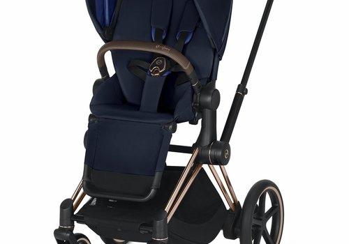 Cybex 2019 Cybex ePriam Rose Gold frame + Indigo Blue Seat