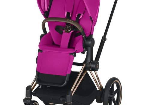 Cybex 2019 Cybex ePriam Rose Gold frame + Fancy Pink Seat