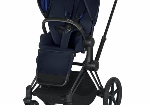 Cybex 2019 Cybex ePriam Matte Black frame + Indigo Blue Seat