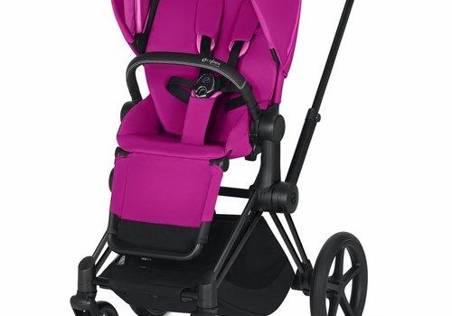 Cybex 2019 Cybex ePriam Matte Black frame + Fancy Pink seat