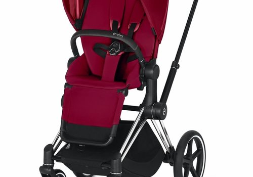 Cybex 2019 Cybex ePriam Chrome Black frame + True Red seat
