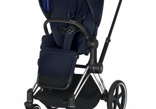 Cybex 2019 Cybex ePriam Chrome Black frame + Indigo Blue Seat