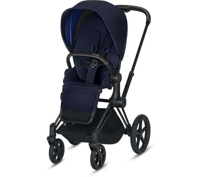 2019 Cybex Priam Complete Stroller - Matte Black/Indigo Blue