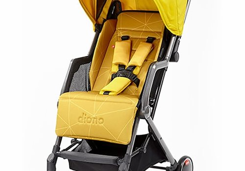 Diono Diono Traverze Editons Compact Stroller In Yellow Sulphur