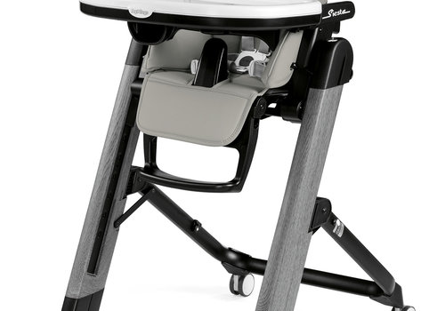 Peg-Perego Peg Perego Prima Siesta High Chair In Ambiance Grey-Light Grey Eco Leather (Grey Chassis)