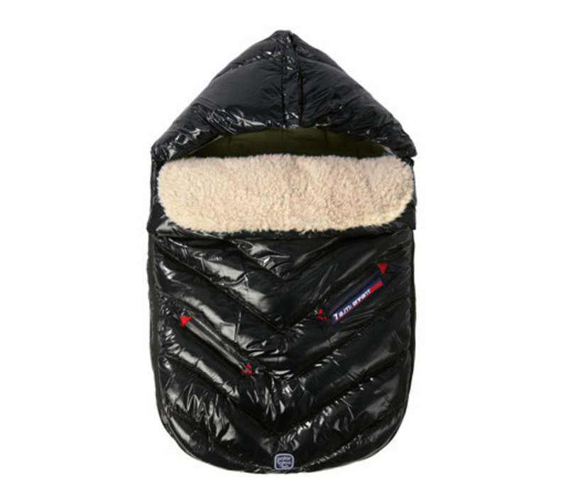 7 A.M. Enfant Polar Igloo Infant Footmuff In Black- Newborn - 12 Months