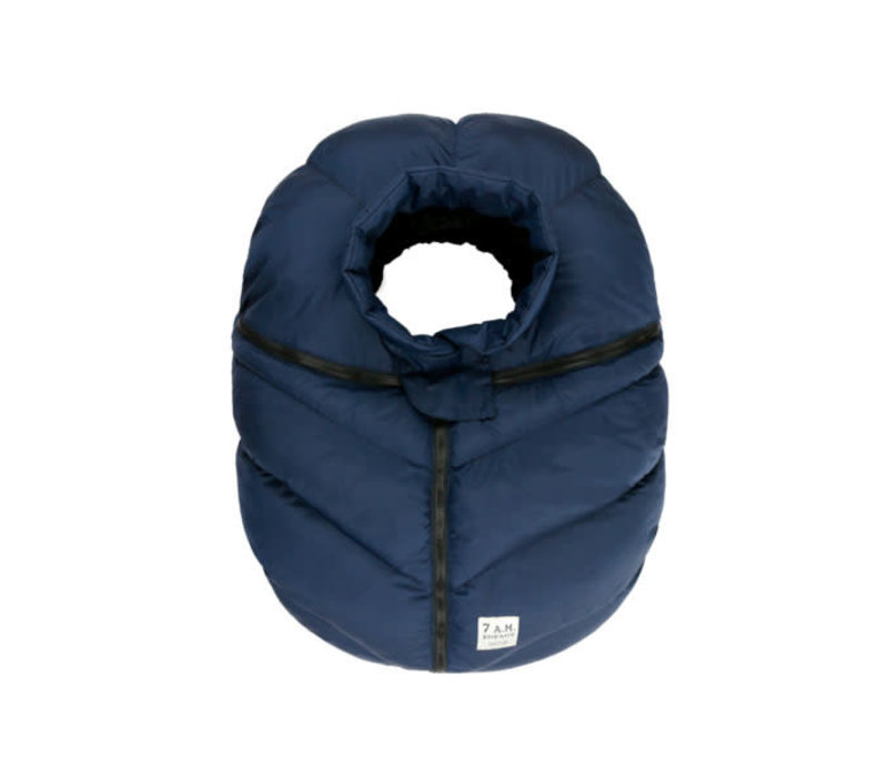 7 A.M. Car Seat Cover - Cocoon In Midnight 0-12 Months