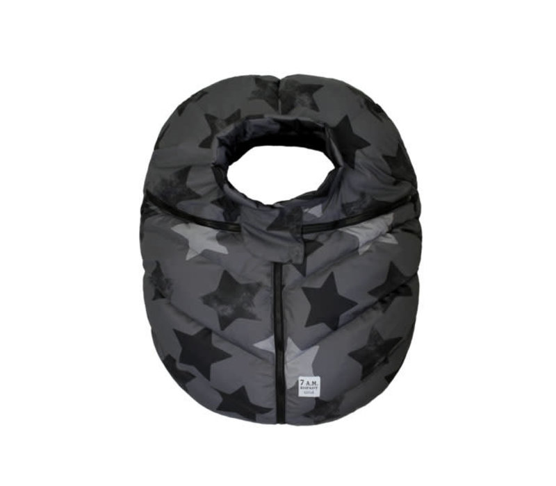 7 A.M. Car Seat Cover - Cocoon In Print Stella 0-12 Months