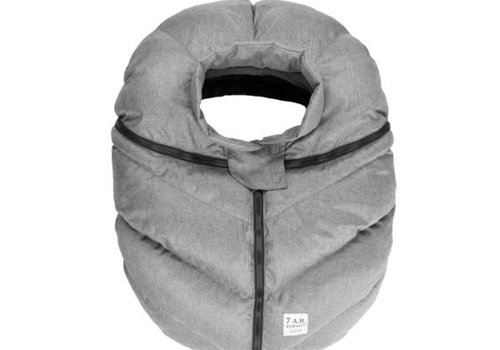 7 AM 7 A.M. Car Seat Cover -Cocoon In Heather Grey 0-12 Months