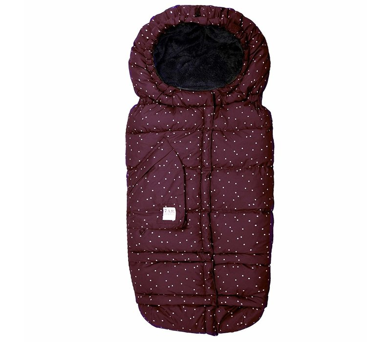 7 A.M. Enfant Evolution 212 Blanket In Print Maroon Petit Pois- 6 Months -4 Toddler