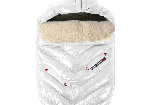 7 AM 7 A.M. Enfant Polar Igloo Toddler Footmuff In White- 12 Month-2 Toddler