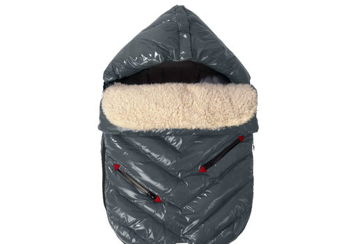 7 AM 7 A.M. Enfant Polar Igloo Toddler Footmuff In Graphite- 12 Month-2 Toddler