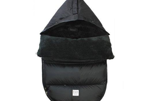 7 AM 7 A.M. Plush Pod Black Plush In Small/Medium 0-18 Months