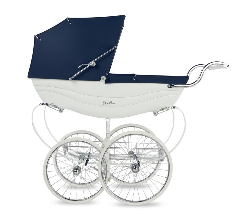 Silver Cross Balmoral Carriage In White-Navy