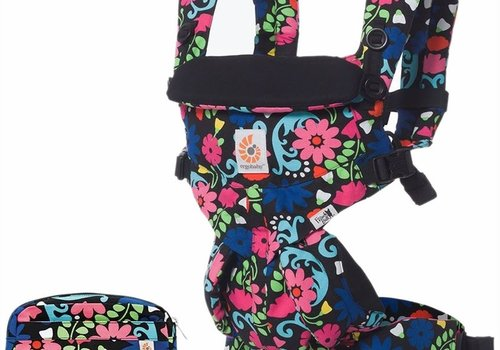 ERGObaby Ergo Baby Omni 360 Baby Carrier All-In-One French Bull- Flores