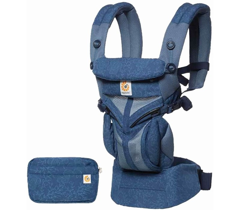 Ergo Baby Omni 360 Cool Air Mesh Baby Carrier All-In Blue Blooms