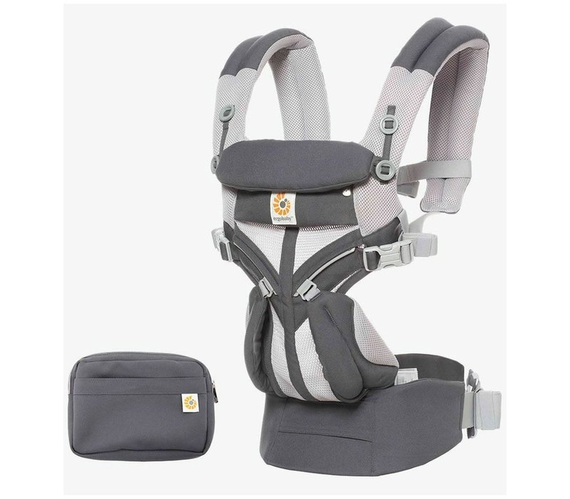 Ergo Baby Omni 360 Cool Air Mesh Baby Carrier All-In Carbon Grey