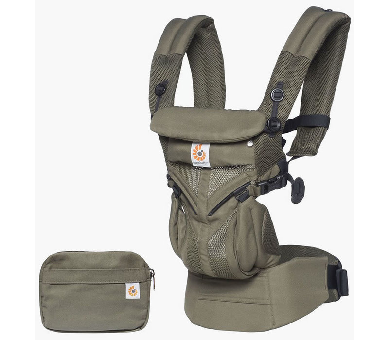 Ergo Baby Omni 360 Cool Air Mesh Baby Carrier All-In Khaki Green