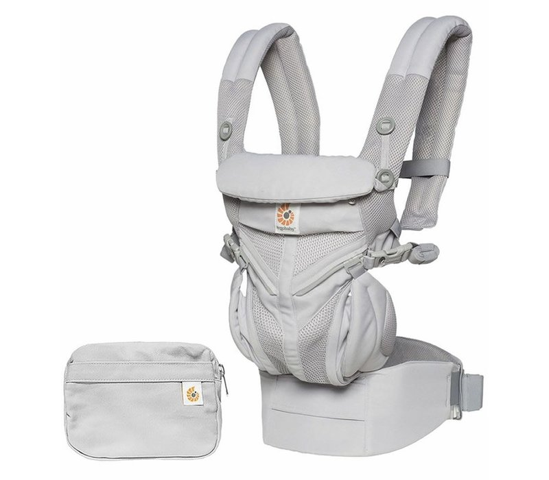 Ergo Baby Omni 360 Cool Air Mesh Baby Carrier All-In Pearl Grey