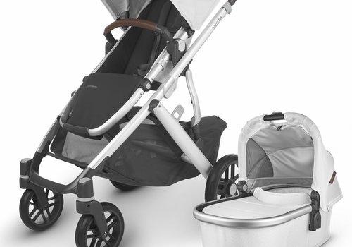 UppaBaby 2020 Uppa Baby Vista V2 Stroller In Bryce (White Marl/Silver/Chestnut Leather)