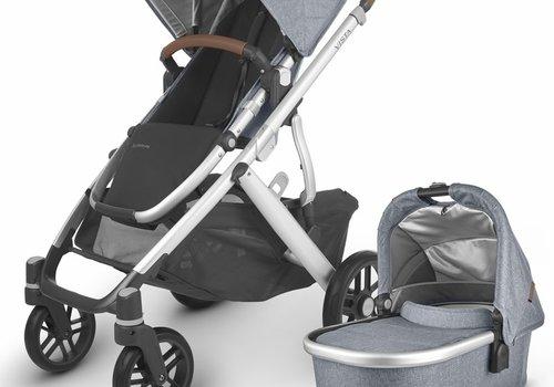 UppaBaby 2020 Uppa Baby Vista V2 Stroller In Gregory (blue mélange/silver/saddle leather)