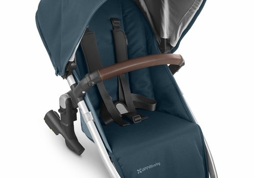 UppaBaby 2020 Uppa Baby Vista Rumble Seat V2 (Only) In FINN (deep sea/silver/chestnut leather)