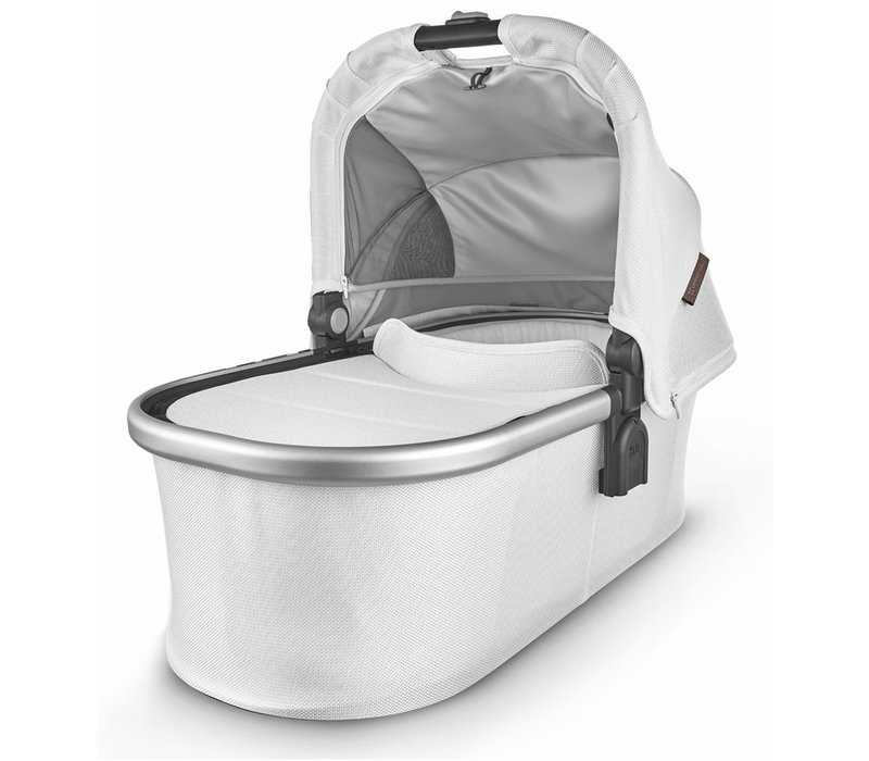 Uppa Baby Vista-Cruz V2 Bassinet - BRYCE (white marl/silver/chestnut leather)
