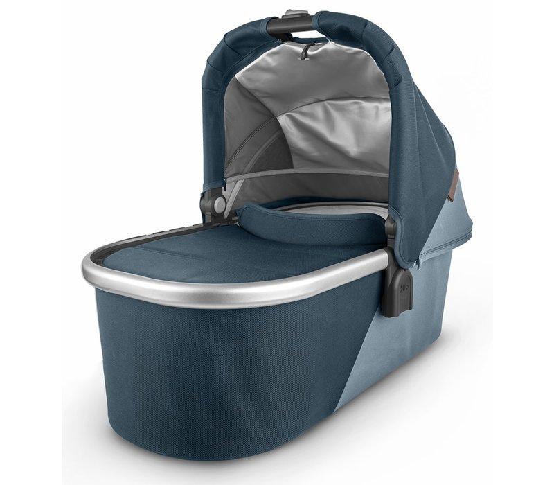 Uppa Baby Vista-Cruz V2 Bassinet - FINN (deep sea/silver/chestnut leather)