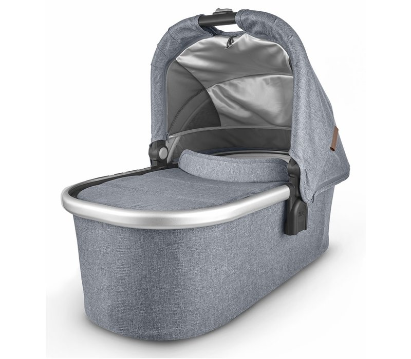 Uppa Baby Vista-Cruz V2 Bassinet - GREGORY (blue mélange/silver/saddle leather)