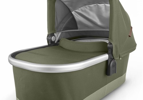 UppaBaby Uppa Baby Vista-Cruz V2 Bassinet - HAZEL (olive/silver/saddle leather)
